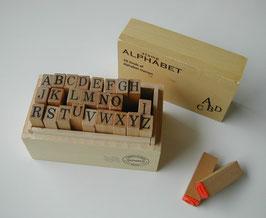 木箱入りアルファベットスタンプセット