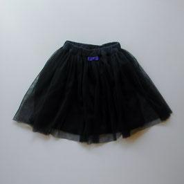 ネイビーのチュールスカート付キュロット