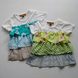 3段フリルの半袖チュニックTシャツ/winpie