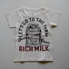 ロゴ&ミルクボトルの半袖Tシャツ/Jeans-b 2nd