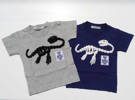 恐竜サガラ刺繍の半袖Tシャツ/Donkey Jossy