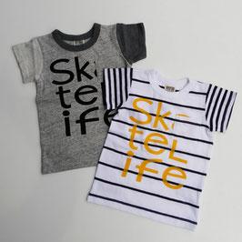 クレイジーパターンの半袖Tシャツ/F.O.