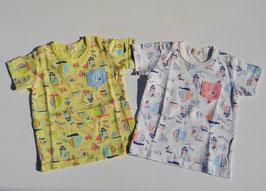 カモメとヨットの半袖Tシャツ/kid's zoo
