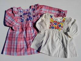 胸元にお花刺繍いっぱいの長袖ワンピース/WILL MERY
