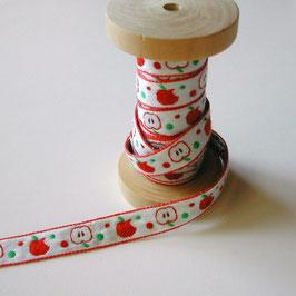 赤いりんごのチロリアンテープ
