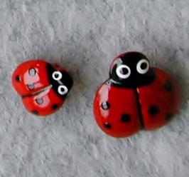 てんとう虫のボタン(金属)