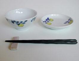 九谷青窯のレモン飯碗