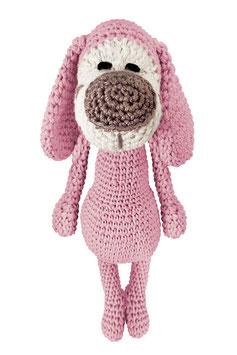 Hund Hansi rosa