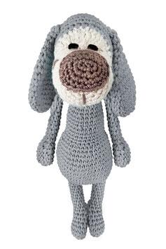 Hund Hansi grau