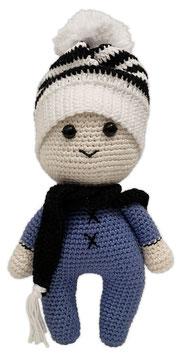 Puppe Paul blau