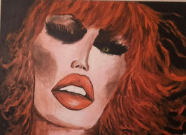 Femme au cheveux rouges