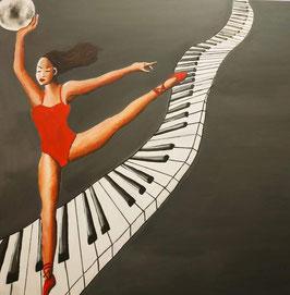Danseuse sur clavier piano