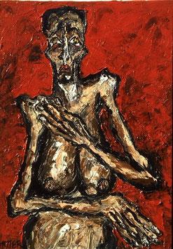 Vieille femme nue