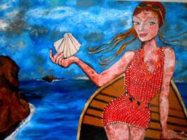 Femme à la barque VENDU
