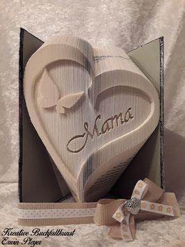 Herz mit Schmetterling und zweiseitigem AluCover