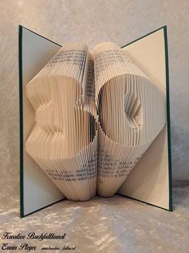 """Gefaltetes Buch """"30"""""""