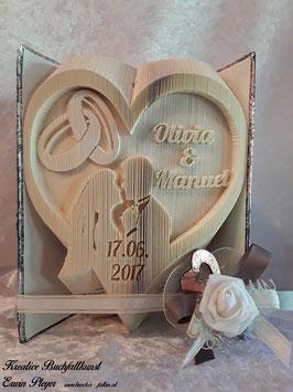 """Gefaltetes Hochzeitsbuch """"Olivia"""""""