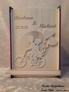 """Gefaltetes Hochzeitsbuch """"Barbara"""""""