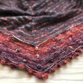 Schal in Rot & Anthrazit