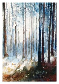 Kunst-Doppelkarten  mit hochwertigem Briefumschlag in Cellophantütchen. Motiv: Das Licht findet seinen Weg. t seinen Weg. tname
