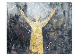 Kunst-Doppelkarten mit hochwertigem Briefumschlag in Cellophantütchen, Motiv:  Geschenk des Himmels