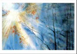 Kunst-Doppelkarten mit hochwertigem Briefumschlag im Cellophantütchen. Motiv: Lebenslicht