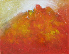 DU bringst Licht in mein Chaos.  Abstraktes Bild in Mischtechnik auf Leinwand (2017). 50 cm x 40 cm.