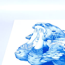 """""""Art-Print Blue Girl A3"""" by Parsprototo"""