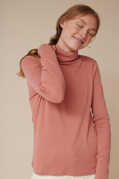 """""""Arense Roll Neck"""" by basic apparel - Old Rose"""