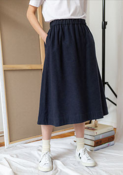 """""""Flannel A-Line Skirt"""" by Rotholz - Blue"""