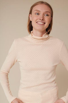 """Arense Roll Neck"" by basic apparel - Sand Dollar"