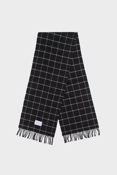 """""""Check Wool Scarf"""" by Rotholz - Anthracite White"""