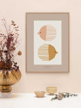 """""""Bird and Fish Poster"""" by VISSEVASSE"""