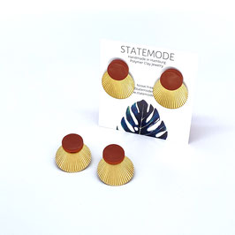 """""""Toffee Brown Statement Earrings"""" by Statemode"""