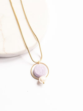 """""""Lilac Pearl Necklace"""" by Statemode"""