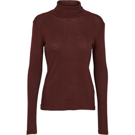 """""""Arense Roll Neck"""" by basic apparel - Bitter Chocolate"""