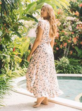 """""""Sasi Maxi Dress"""" by buddha wear - Flamingo Flowers"""