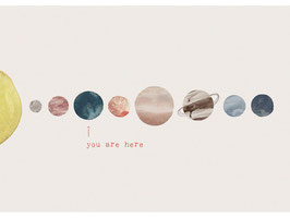 """""""You Are Here - Print A3"""" by Anna Cosma"""