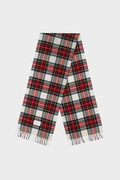 """""""Check Wool Scarf"""" by Rotholz - Red White Multi"""