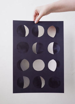 """""""Phases Of The Moon - Print A3"""" by Anna Cosma"""