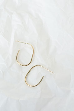 """""""Gold Delicate Oval Hoops"""" by Wild Fawn"""