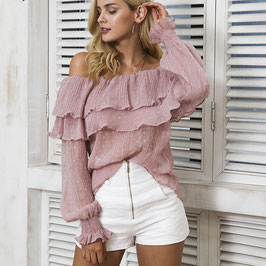 BLOUSE SANDY ROSE-3 COLORIS