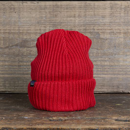 Patagonia Fischermans Rolled Beanie Rot