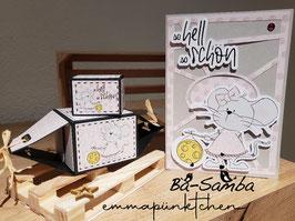 Würfelbox, Bonbonbox, Ovalkarte