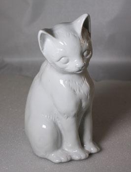 Porzellan Katze weiss von Wagner & Apel