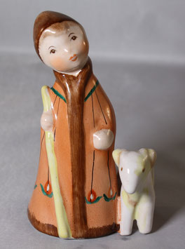 Porzellan Figur Hirtenjunge mit Schaf