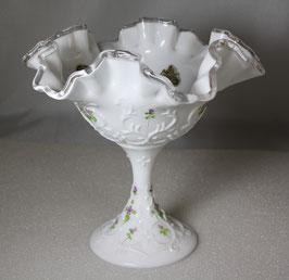 Glas Schüssel, Schale, gekräuselte Rüschen von Fenton