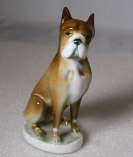 Porzellan Boxer Hund von Zsolnay