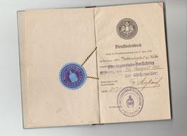 Dienstbotenbuch und Heimatschein von 1916 und 1937