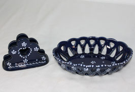 Schüssel/Korbschale und Serviettenhalter von Gmundner Keramik